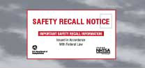 Search for auto, car seat and automobile equipment recalls and investigations